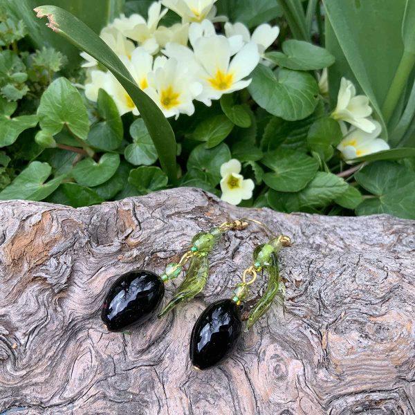 Oliven-Muranoglas-Schmuck (Marie-Theres Vogel)